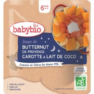 Bonne Nuit poche soupe butternut carotte lait de coco – 190 gr 601202