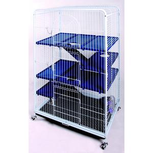 Cage bigtower pour rongeurs bleue 79x52xH140 cm 603964