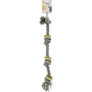 Jouet pour perroquet en corde taille M gris Ø 6 x 66 cm 605767
