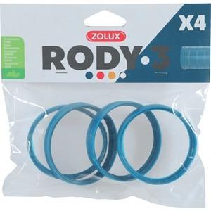 Anneau de connexion x 4 Rody 3 bleu Ø 6 cm 605972