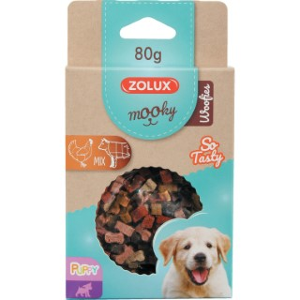 Friandises pour chiot Mooky puppy Woofies en étui de 80 g 606849