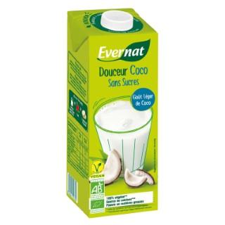 Boisson Douceur coco bio sans sucre en brique de 1L 611574