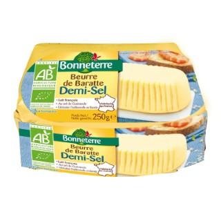 Beurre de baratte demi-sel Bonneterre 250 g 611580