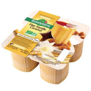 Flan vanille caramel Bonneterre en pot 4 x 100 g 611581