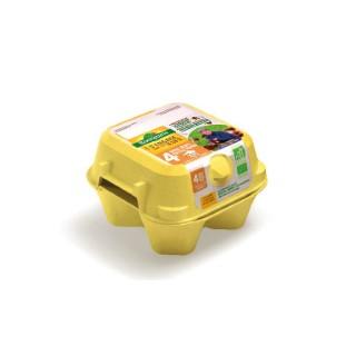Boite de 4 gros œufs extra frais Bonneterre 63-73 g 611589