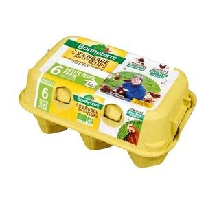 Boite de 6 œufs Bonneterre 43-53 g 611606