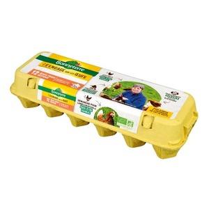 Boite de 12 œufs moyens Bonneterre 53-63 g 611609