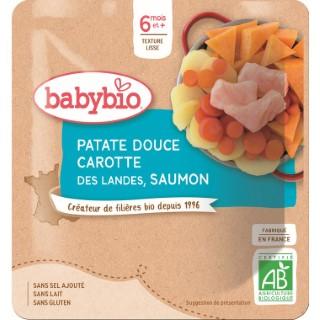 Menu du jour poche patate douce carotte saumon - 190 gr 611703
