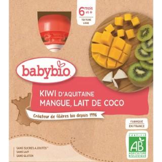 Gourdes kiwi mangue lait de coco dès 6 mois - 4x90 gr 611710