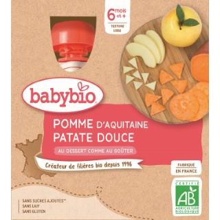 Gourdes pomme patate douce dès 6 mois - 4x90 gr 611712