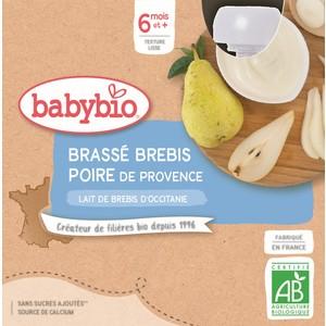 Gourdes Brassé Brebis Poire de Provence dès 6 mois - 4x85 gr 611714