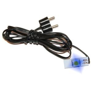 Ruban de LED avec 1 Lumière Bleue 10x1x17 cm Noir 611766