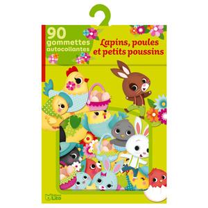 Lapins, Poules et Petits Poussins Mes Gommettes Lito 3 ans Éditions 612236