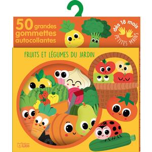Fruits et Légumes du Jardin 50 Gommettes pour les Petites Mains 18 mois Éditions Lito 612245