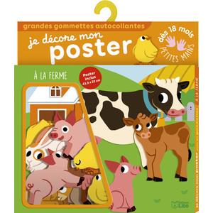 À la Ferme Je Décore mon Poster avec les Gommettes 18 mois Éditions Lito 612246