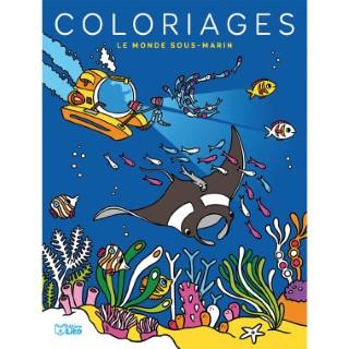 Le Monde Sous-marin Mes Grands Coloriages 6 ans Éditions Lito 612251