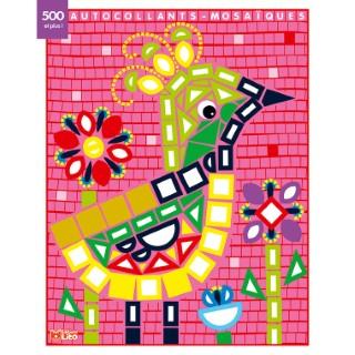 L'Oiseau du Paradis Mes Petits Tableaux  en Autocollants Mosaïques Brillants 3 ans Éditions Lito 612275