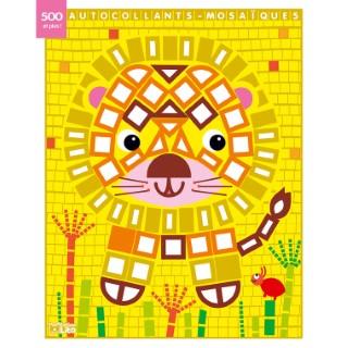 Le Lion Mes Petits Tableaux en Autocollants Mosaïques Brillants 3 ans Éditions Lito 612276