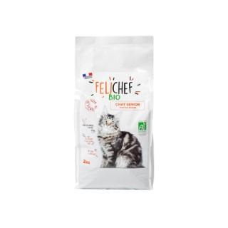 Croquettes pour chat senior bio en sac de 2 kg 612425
