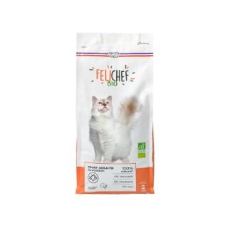 Croquettes pour chat adulte bio au poisson en sac de 2 kg 612426