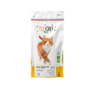 Croquettes pour chat stérilisé bio sans céréales en sac de 2 kg 612441