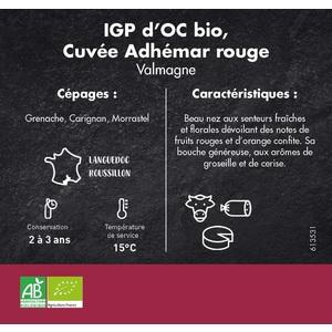 IGP Collines de la Moure, Cuvée Adhémar rouge 75 cl 613531