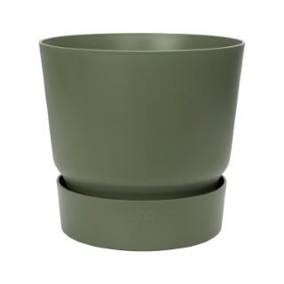 Pot Greenville rond de 13 L coloris vert Ø 30 x H 28 cm 614789