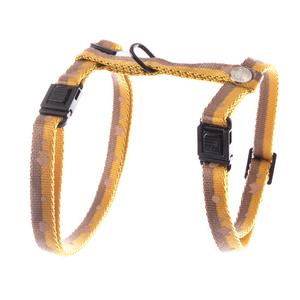 Harnais pour chat Bicolor Bulles jaune moutarde et marron 615017