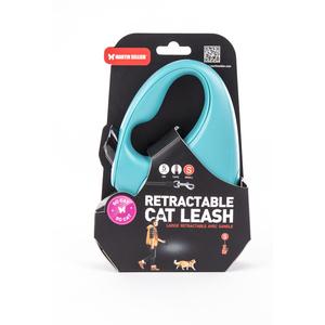 Laisse rétractable So Cat turquoise - taille S 615094