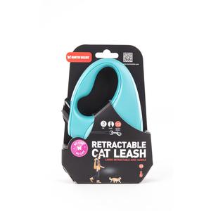 Laisse rétractable So Cat turquoise - taille XS 615097