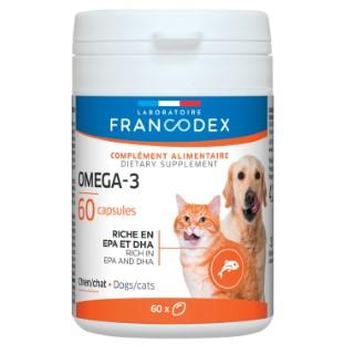 Capsules oméga 3 pour chien et chat x 60 615295