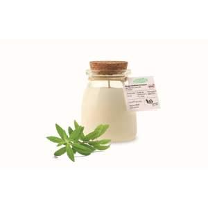 Bougie «pot de yaourt» verveine Ø6,5x8,1 cm 615356