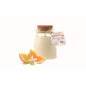 Bougie pot de yaourt fleur d'oranger Ø6,5xH8,1 cm 615360
