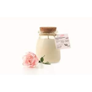 Bougie pot de yaourt rose Ø6,5xH8,1 cm 615361