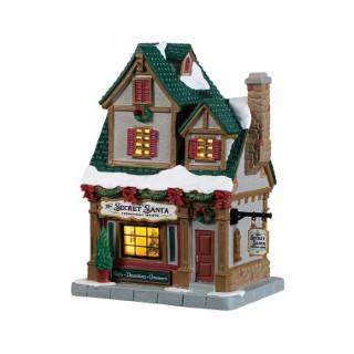 The Secret Santa Christmas Shoppe Porcelaine 18,5x15x10,5 cm Multicolore 616046