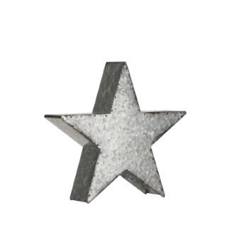 Étoile en métal argenté Ø 25 cm 616306