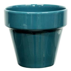 Pot horticole émaillé de 0,9 L coloris bleu Ø 14 x H 12 cm 616414