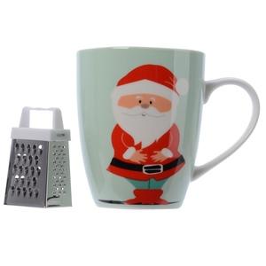 Coffret chocolat chaud avec mug porcelaine et sa râpe en métal 616769
