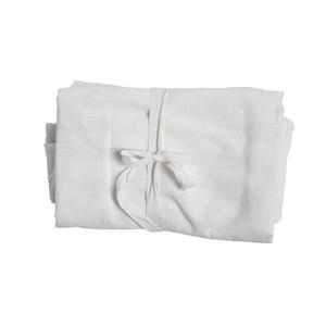 Nappe en coton texturé à carreaux ivoire 150x250 cm 617484