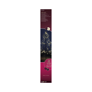 Guirlande lumineuse argent avec 2 étoiles et 40 microLED 195 cm 617647