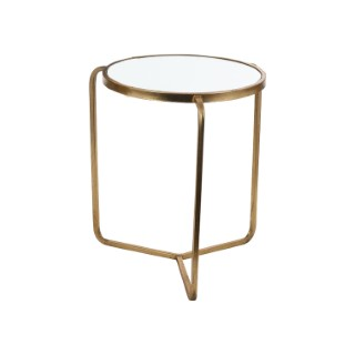 Table de service Aristo en verre et métal doré GM H 51 x Ø 41 cm 623104