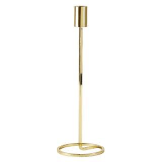 Bougeoir grand modèle en métal doré Ø 10 x H 29 cm 623921