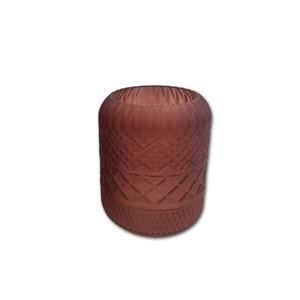 Vase en verre rouge grand modèle H 25 x Ø 18 cm 623990