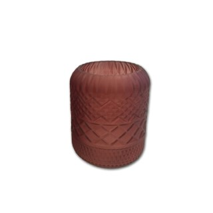 Vase en verre rouge petit modèle H 20 x Ø 12 cm 623991