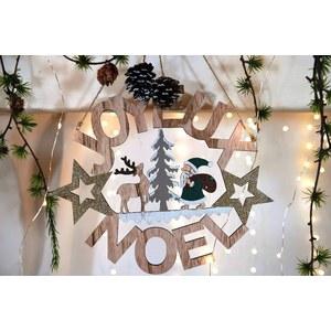 Joyeux Noël à suspendre Bois Ø28 cm Bois 624268