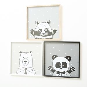 Cadre Cool noir et blanc 30 x 30 cm 624298