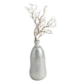 Vase Reijo forme bouteille en verre laqué argenté H 51 x Ø 22 cm 624308