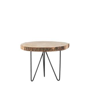 Table de service Pia bois et métal H 34 x Ø 50 cm 624462