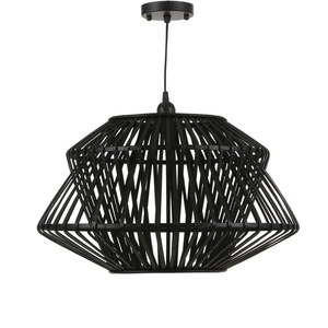 Suspension noire pour ampoule E27 de 40W Ø 51 cm x H 31 cm 624532