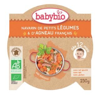 Mon Assiette Ptits Légumes et Agneau bio 230 g BABYBIO 624916